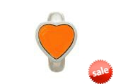 Endless Jewelry Coral Enamel Heart Silver Coral Enamel Rhodium Silver Finish style: 412004