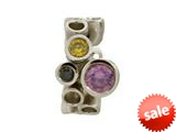 Endless Jewelry Multi Gemstones Amethyst Silver Amethyst/peridot/black Cubic Zirconia Rhodium Silver Finish style: 412031