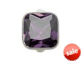 Endless Jewelry Big Amethyst Cube Silver Amethyst Crystal Rhodium Silver Finish style: 412051
