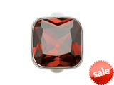 Endless Jewelry Big Garnet Cube Silver Garnet Crystal Rhodium Silver Finish style: 412052