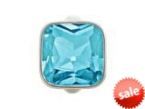 Endless Jewelry Big Sky Blue Cube Silver Sky Blue Crystal Rhodium Silver Finish style: 412053