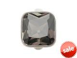 Endless Jewelry Big Smokey Cube Silver Smokey Crystal Rhodium Silver Finish style: 412055