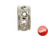 Endless Jewelry Row Of Hearts Silver Rhodium Silver Finish style: 41208