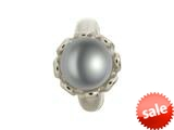 Endless Jewelry Grey Pearl Flower Silver Grey Pearl Rhodium Silver Finish style: 412503