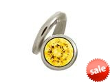 Endless Jewelry Citrine Snake Silver Citrine Cubic Zirconia Rhodium Silver Finish style: 412544