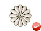 Endless Jewelry White Daisy Silver White Enamel Rhodium Silver Finish style: 412551