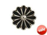 Endless Jewelry Black Daisy Silver Black Enamel Rhodium Silver Finish style: 412552