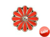 Endless Jewelry Red Daisy Silver Red Enamel Rhodium Silver Finish style: 412553