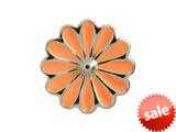 Endless Jewelry Coral Daisy Silver Coral Enamel Rhodium Silver Finish style: 412554
