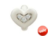 Endless Jewelry White Triple Love Silver White Cubic Zirconia Rhodium Silver Finish style: 413001