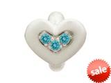 Endless Jewelry Sky Blue Triple Love Silver Sky Blue Cubic Zirconia Rhodium Silver Finish style: 413003