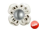Endless Jewelry Big Grey Pearl Flower Silver Grey Pearl Rhodium Silver Finish style: 413503