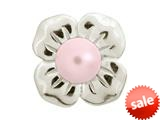 Endless Jewelry Big Rose Pearl Flower Silver Rose Pearl Rhodium Silver Finish style: 413504