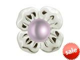 Endless Jewelry Big Purple Pearl Flower Silver Purple Pearl Rhodium Silver Finish style: 413505