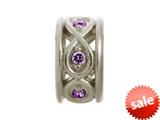 Endless Jewelry Sparkling Amethyst Eternity Silver Amethyst Cubic Zirconia Rhodium Silver Finish style: 413535