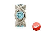 Endless Jewelry Sky Blue Heaven Silver Sky Blue Cubic Zirconia Rhodium Silver Finish style: 414004