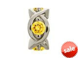 Endless Jewelry Citrine Heaven Silver Citrine Cubic Zirconia Rhodium Silver Finish style: 414005