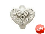 Endless Jewelry White Heart Of Love Silver White Cubic Zirconia Rhodium Silver Finish style: 414501