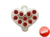 Endless Jewelry Garnet Heart Of Love Silver Garnet Cubic Zirconia Rhodium Silver Finish style: 414503
