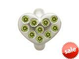 Endless Jewelry Peridot Heart Of Love Silver Peridot Cubic Zirconia Rhodium Silver Finish style: 414505