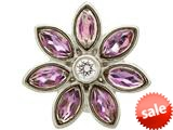 Endless Jewelry Big Amethyst Flower Silver Amethyst/white Cubic Zirconia Rhodium Silver Finish style: 414511