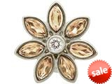 Endless Jewelry Big Champagne Flower Silver Champagne/white Cubic Zirconia Rhodium Silver Finish style: 414513