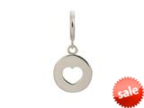 Endless Jewelry Heart Coin Silver Rhodium Silver Finish style: 43259