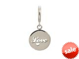 Endless Jewelry Love Coin Silver Rhodium Silver Finish style: 43263