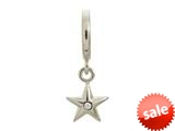 Endless Jewelry White Shiny Star Silver White Cubic Zirconia Rhodium Silver Finish style: 432671