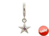 Endless Jewelry Amethyst Shiny Star Silver Amethyst Cubic Zirconia Rhodium Silver Finish style: 432673