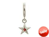 Endless Jewelry Garnet Shiny Star Silver Garnet Cubic Zirconia Rhodium Silver Finish style: 432675