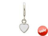 Endless Jewelry White Enamel Heart Drop Silver White Enamel Rhodium Silver Finish style: 432681