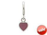 Endless Jewelry Violet Enamel Heart Drop Silver Violet Enamel Rhodium Silver Finish style: 432684