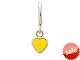 Endless Jewelry Sun Enamel Heart Drop Silver Sun Enamel Rhodium Silver Finish style: 432685