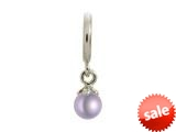 Endless Jewelry Purple Pearl Ball Silver Purple Pearl Rhodium Silver Finish style: 432715