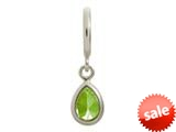 Endless Jewelry Peridot Drop Silver Peridot Cubic Zirconia Rhodium Silver Finish style: 432724