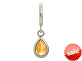 Endless Jewelry Citrine Drop Silver Citrine Cubic Zirconia Rhodium Silver Finish style: 432725