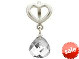 Endless Jewelry Clear Heart Grip Drop Silver Clear Crystal Rhodium Silver Finish style: 432731