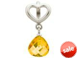 Endless Jewelry Citrine Heart Grip Drop Silver Citrine Crystal Rhodium Silver Finish style: 432733