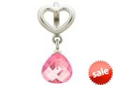 Endless Jewelry Rose Heart Grip Drop Silver Rose Crystal Rhodium Silver Finish style: 432734