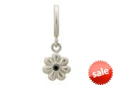 Endless Jewelry Black Flower Dream Dot Silver Black Cubic Zirconia Rhodium Silver Finish style: 433022