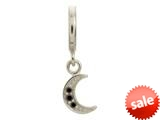 Endless Jewelry Black Moon Shine Drop Silver Black Cubic Zirconia Rhodium Silver Finish style: 433032