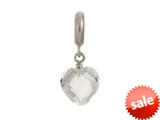 Endless Jewelry Clear Heart Cut Drop Silver Clear Crystal Rhodium Silver Finish style: 433041