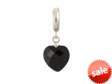 Endless Jewelry Black Heart Cut Drop Silver Black Crystal Rhodium Silver Finish style: 433042