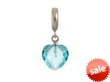Endless Jewelry Sky Blue Heart Cut Drop Silver Sky Blue Crystal Rhodium Silver Finish style: 433043