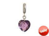Endless Jewelry Amethyst Heart Cut Drop Silver Amethyst Crystal Rhodium Silver Finish style: 433044