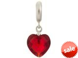 Endless Jewelry Garnet Heart Cut Drop Silver Garnet Crystal Rhodium Silver Finish style: 433045