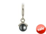 Endless Jewelry Black Apple Pearl Silver Black Pearl Rhodium Silver Finish style: 433054