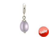 Endless Jewelry Purple Pearl Drop Silver Purple Pearl Rhodium Silver Finish style: 433065