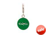 Endless Jewelry Green Endless Coin Silver Green Enamel Rhodium Silver Finish style: 4330710